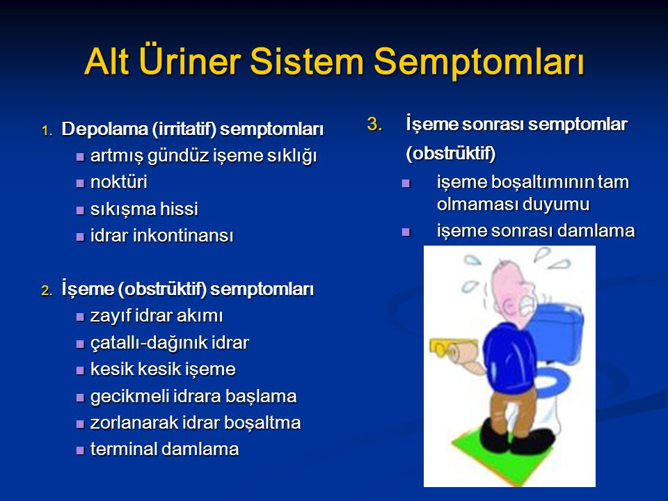 Alt Üriner Sistem Semptomları