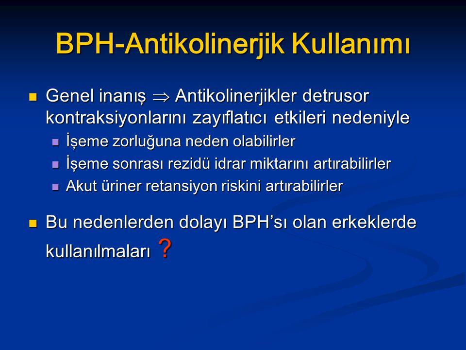 BPH-Antikolinerjik Kullanımı