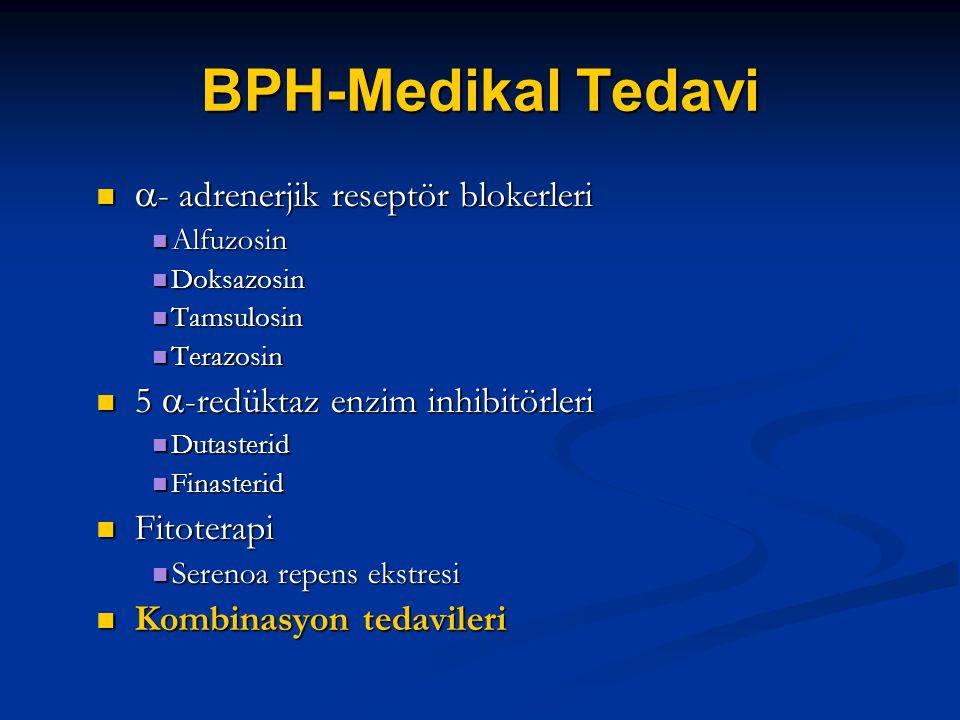 BPH-Medikal Tedavi - adrenerjik reseptör blokerleri