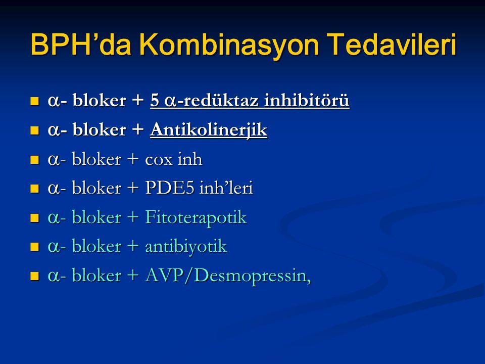 BPH'da Kombinasyon Tedavileri