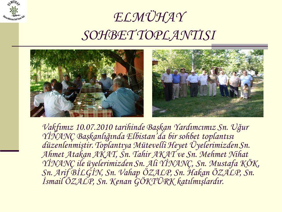 ELMÜHAY SOHBET TOPLANTISI