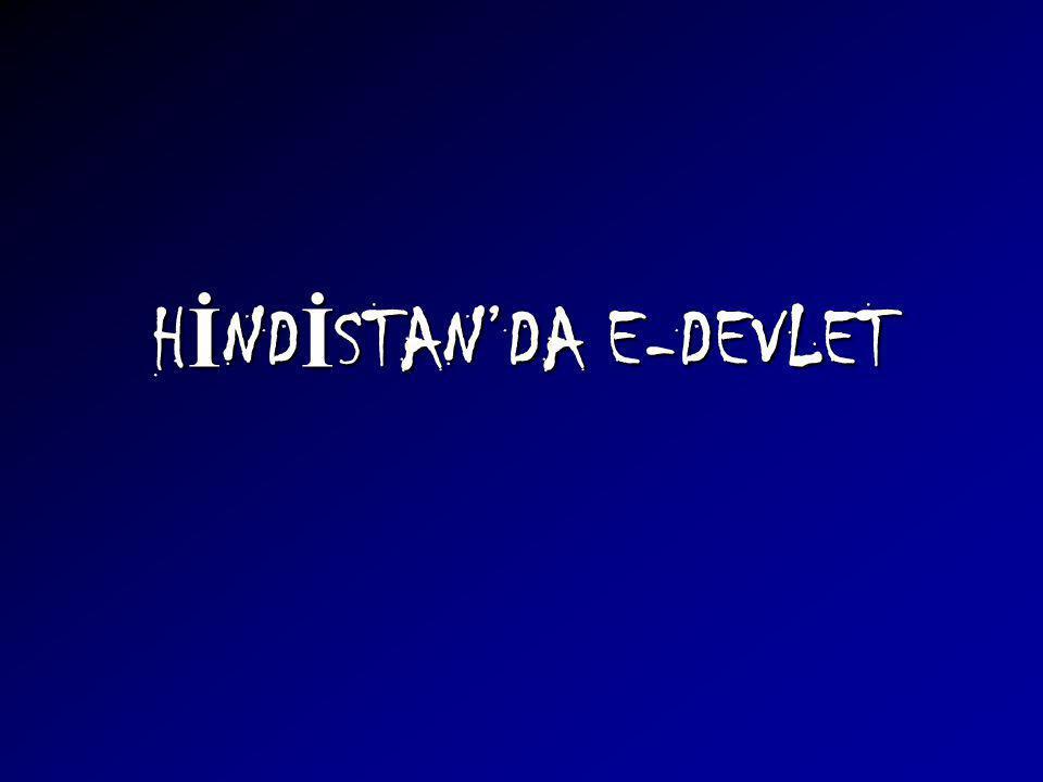 HİNDİSTAN'DA E-DEVLET