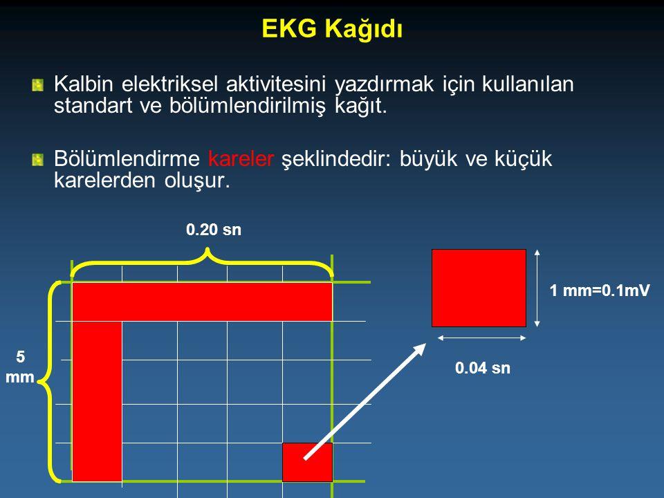 EKG Kağıdı Kalbin elektriksel aktivitesini yazdırmak için kullanılan standart ve bölümlendirilmiş kağıt.