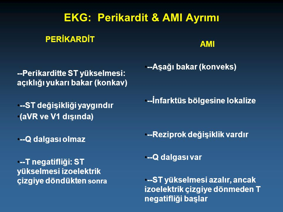 EKG: Perikardit & AMI Ayrımı