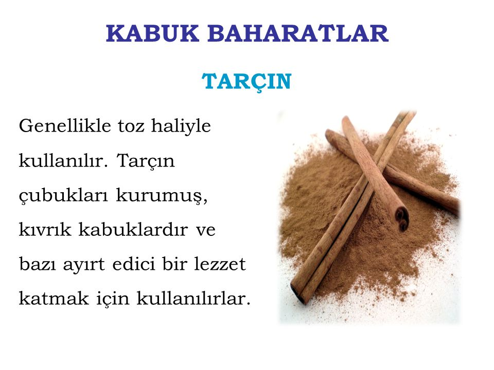 KABUK BAHARATLAR TARÇIN