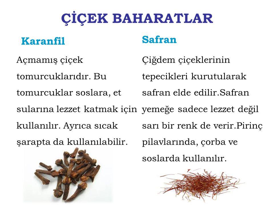 ÇİÇEK BAHARATLAR Safran Karanfil
