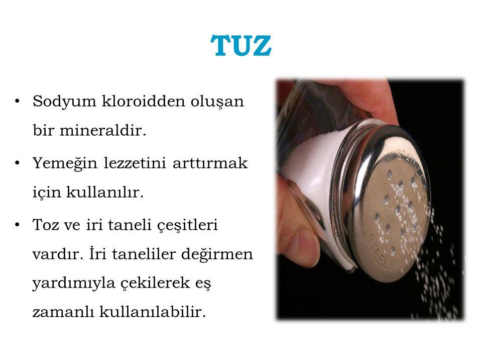 TUZ Sodyum kloroidden oluşan bir mineraldir.
