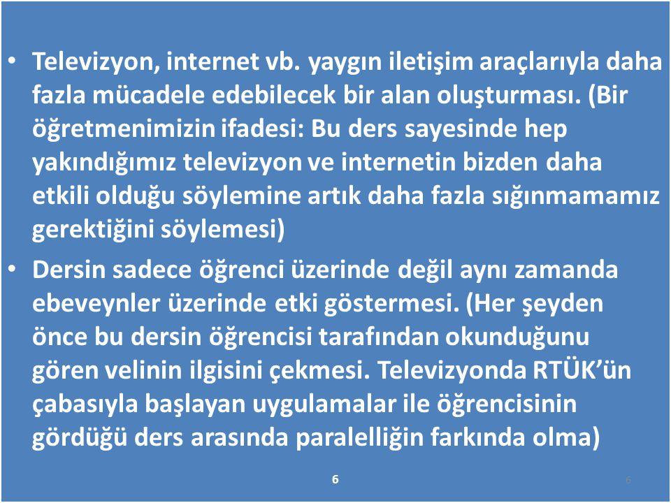 Televizyon, internet vb