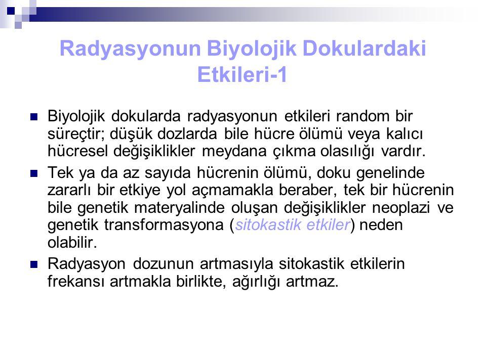 Radyasyonun Biyolojik Dokulardaki Etkileri-1