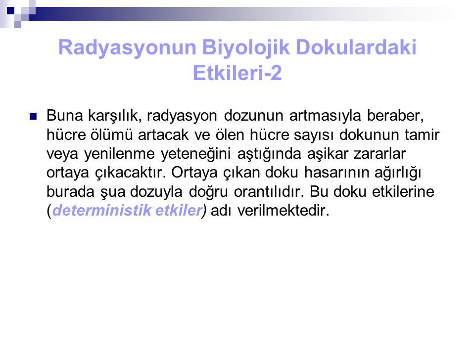 Radyasyonun Biyolojik Dokulardaki Etkileri-2