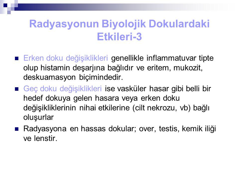 Radyasyonun Biyolojik Dokulardaki Etkileri-3