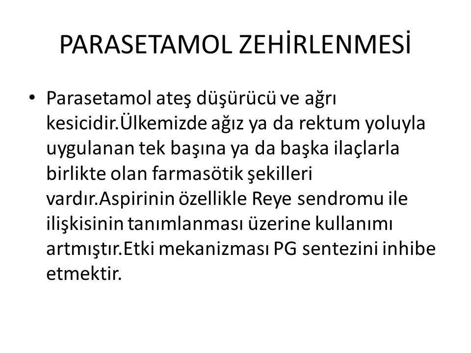PARASETAMOL ZEHİRLENMESİ