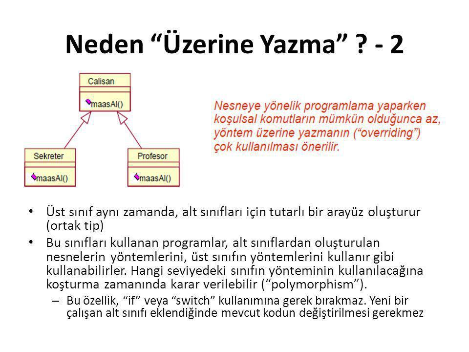 Neden Üzerine Yazma - 2