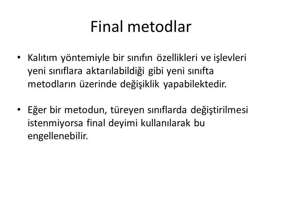 Final metodlar