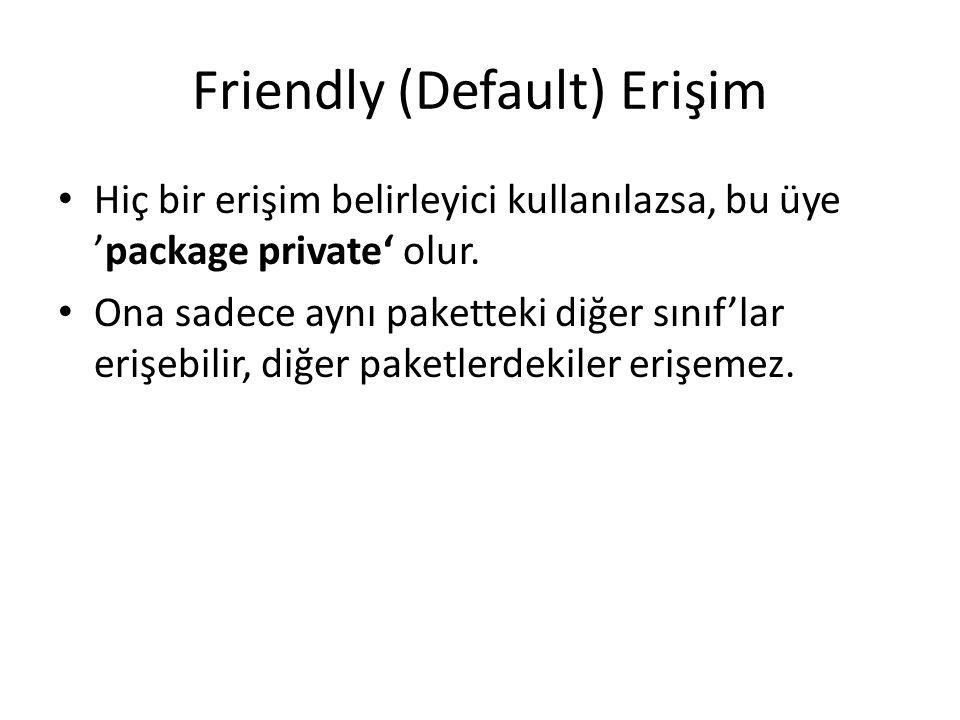 Friendly (Default) Erişim