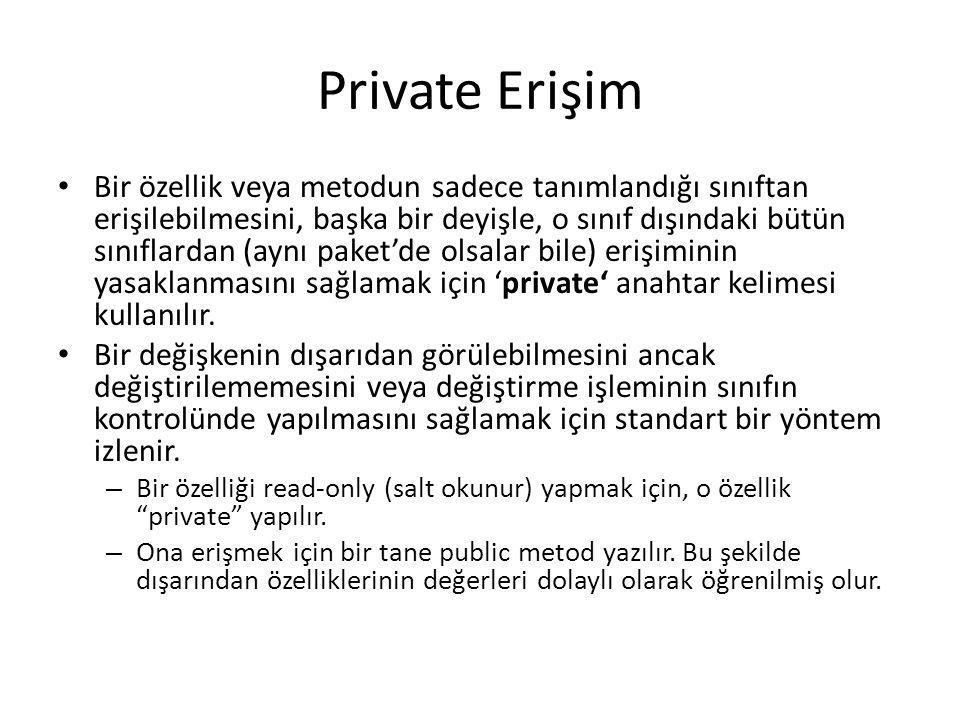 Private Erişim