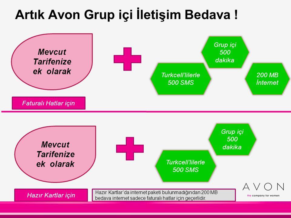 Artık Avon Grup içi İletişim Bedava !