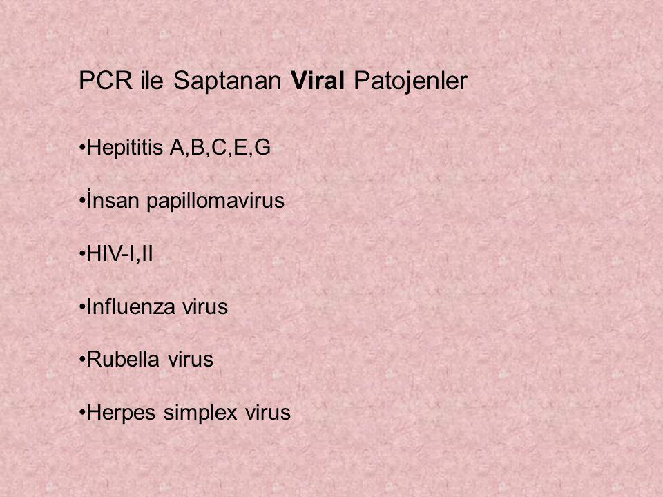 PCR ile Saptanan Viral Patojenler