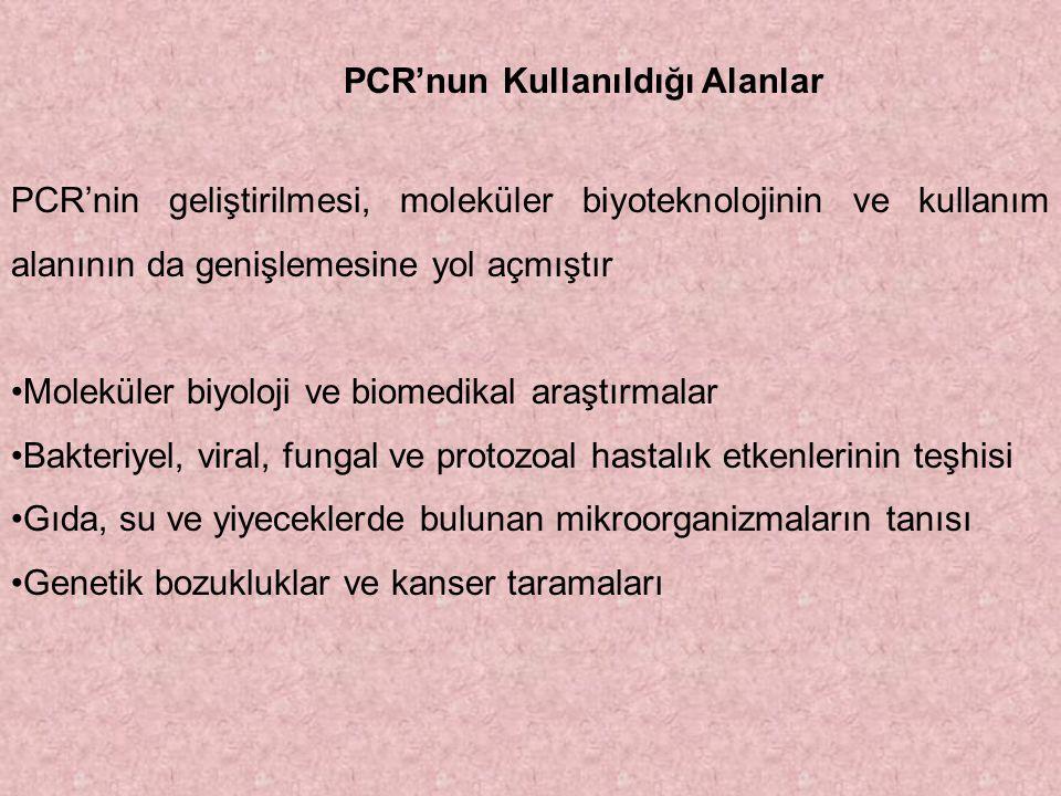 PCR'nun Kullanıldığı Alanlar