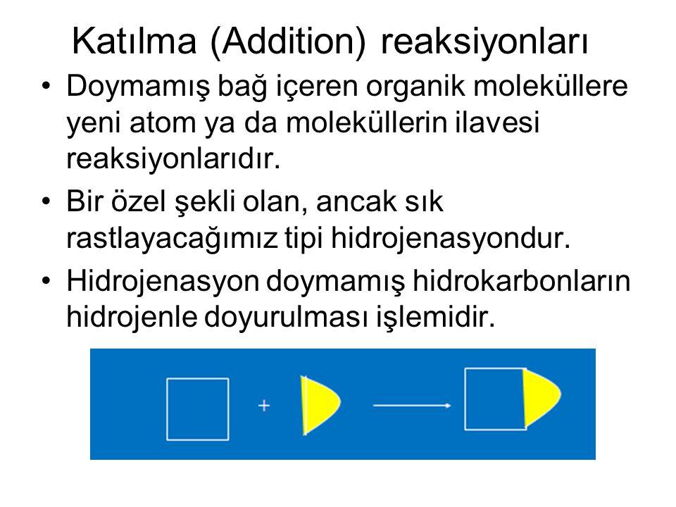Katılma (Addition) reaksiyonları
