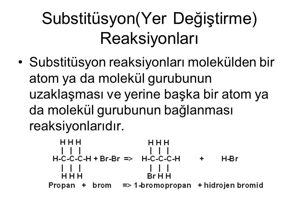 Substitüsyon(Yer Değiştirme) Reaksiyonları