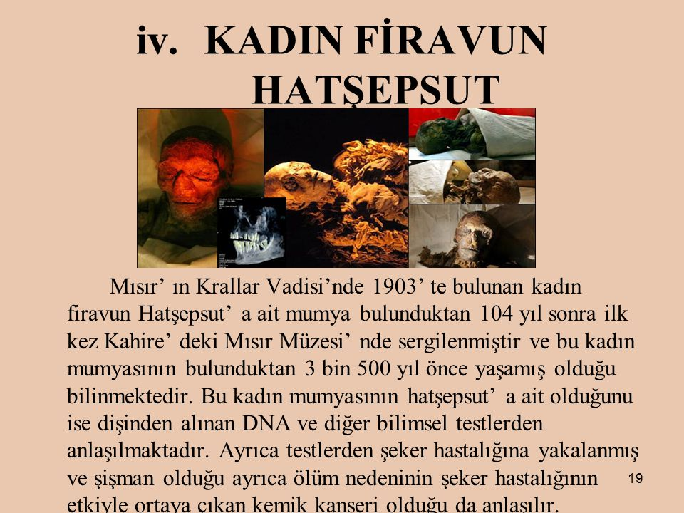 KADIN FİRAVUN HATŞEPSUT