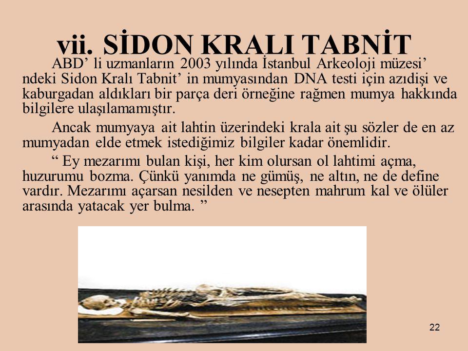 SİDON KRALI TABNİT
