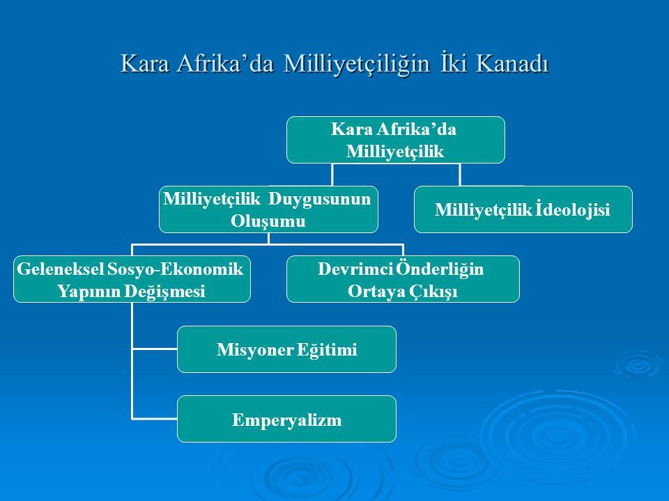 Kara Afrika'da Milliyetçiliğin İki Kanadı
