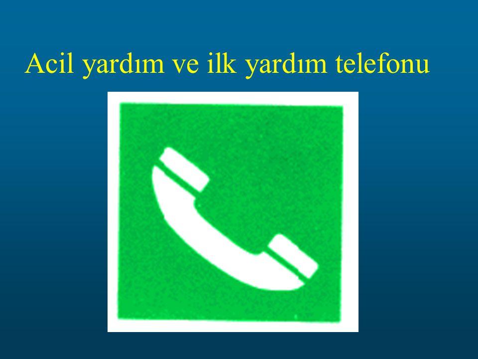 Acil yardım ve ilk yardım telefonu