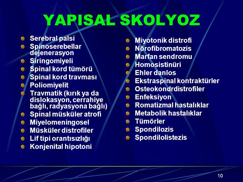 YAPISAL SKOLYOZ Serebral palsi Miyotonik distrofi