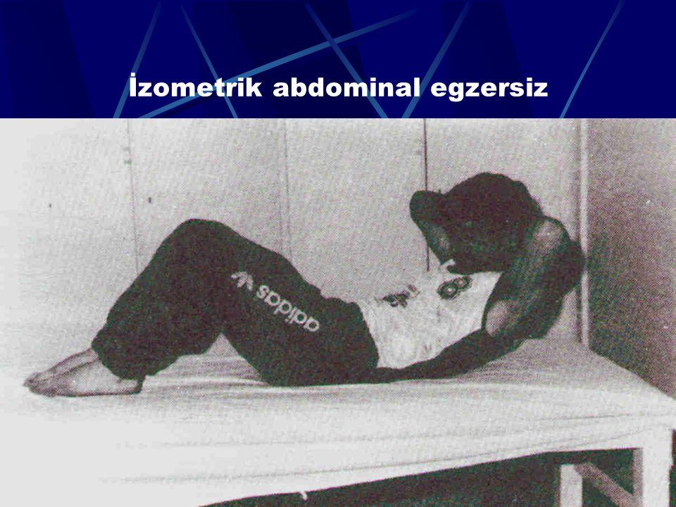 İzometrik abdominal egzersiz