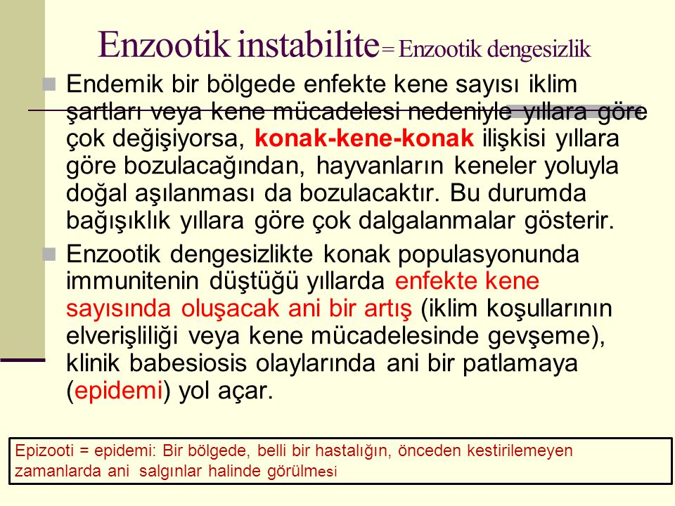 Enzootik instabilite = Enzootik dengesizlik