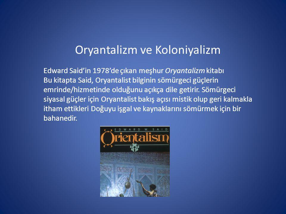 Oryantalizm ve Koloniyalizm