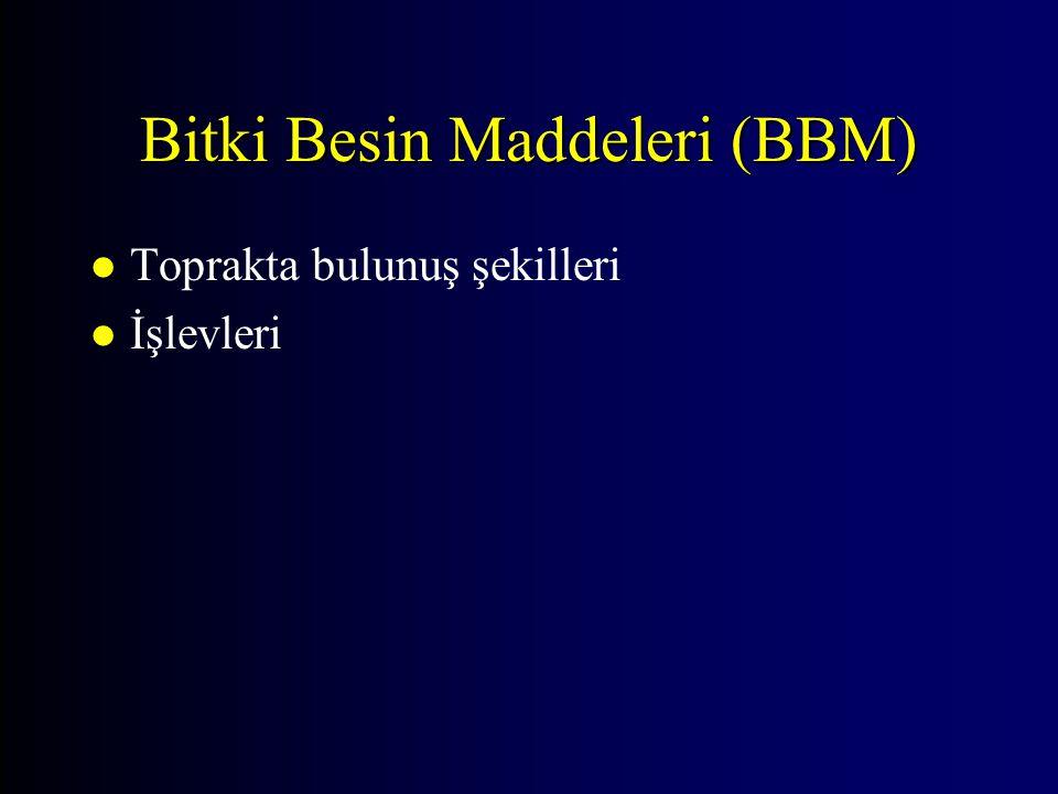 Bitki Besin Maddeleri (BBM)