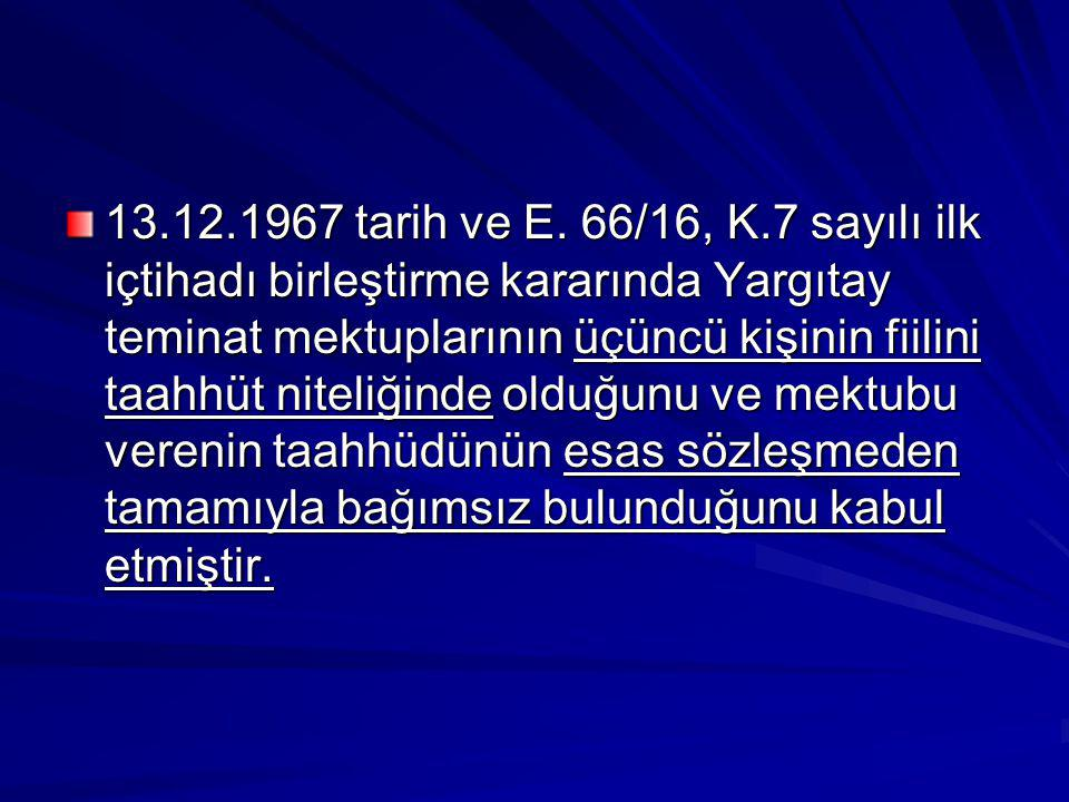 13.12.1967 tarih ve E.
