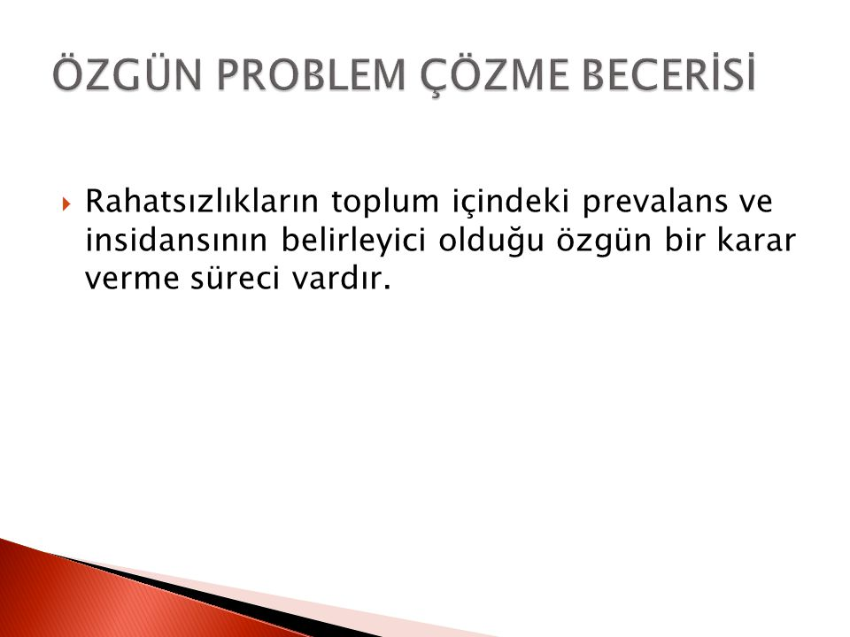 ÖZGÜN PROBLEM ÇÖZME BECERİSİ