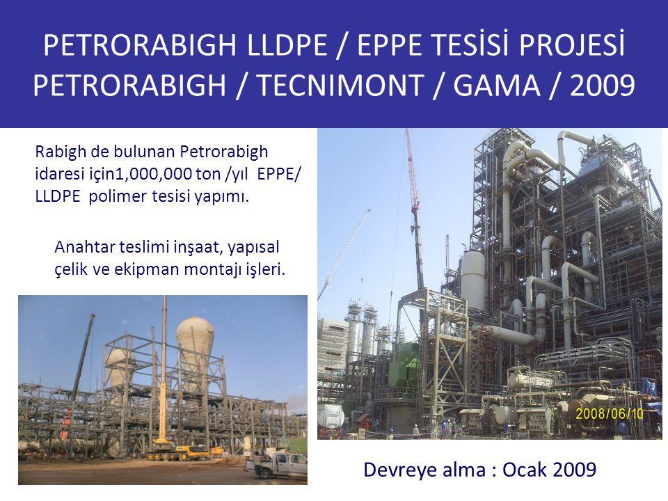 PETRORABIGH LLDPE / EPPE TESİSİ PROJESİ PETRORABIGH / TECNIMONT / GAMA / 2009