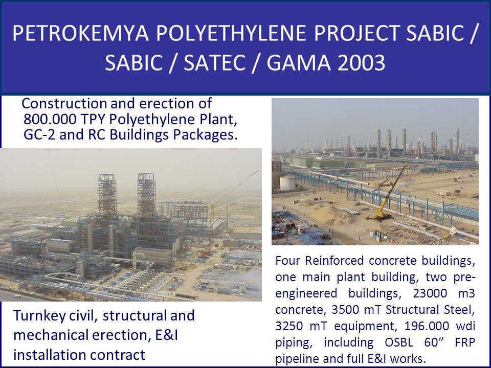 PETROKEMYA POLYETHYLENE PROJECT SABIC / SABIC / SATEC / GAMA 2003