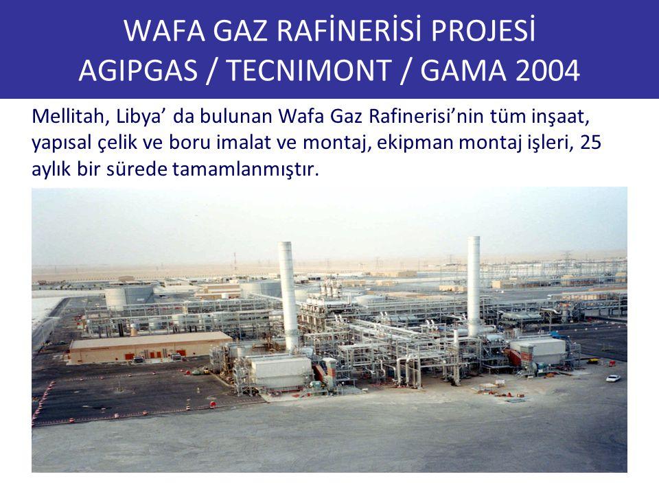 WAFA GAZ RAFİNERİSİ PROJESİ AGIPGAS / TECNIMONT / GAMA 2004