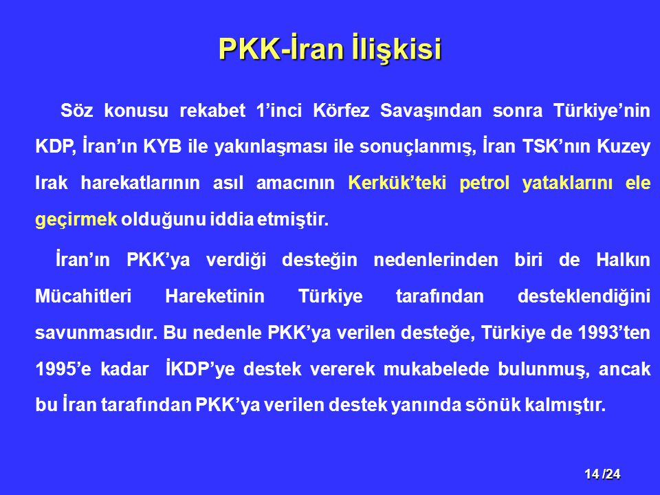 PKK-İran İlişkisi