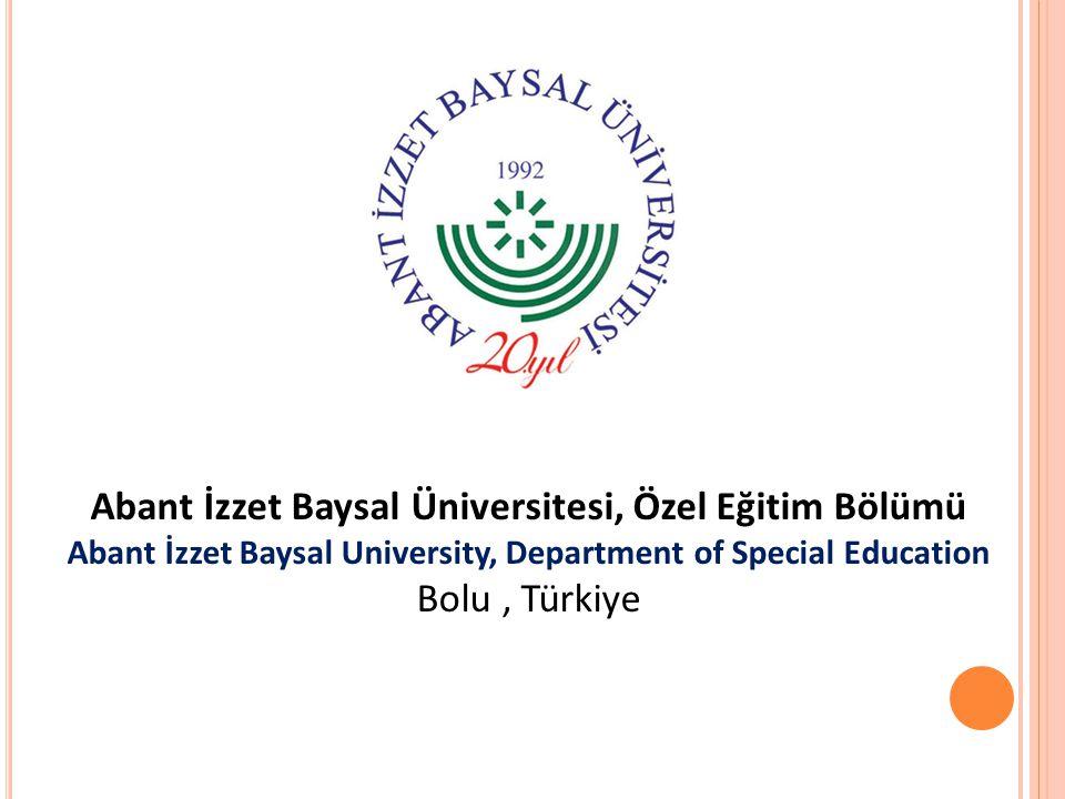 Abant İzzet Baysal Üniversitesi, Özel Eğitim Bölümü