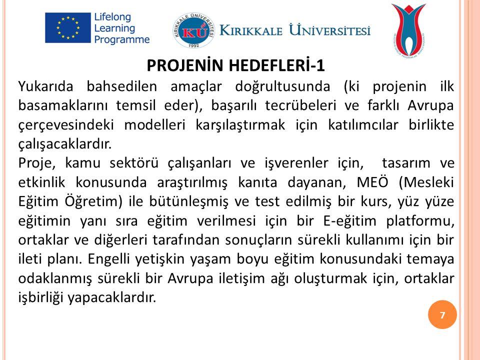 PROJENİN HEDEFLERİ-1
