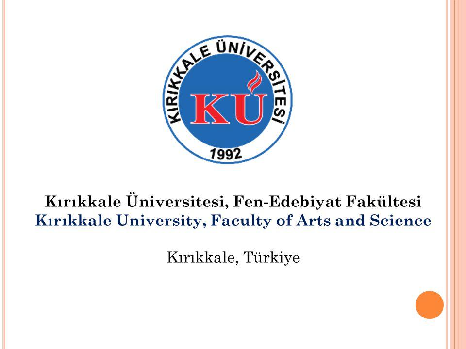 Kırıkkale Üniversitesi, Fen-Edebiyat Fakültesi
