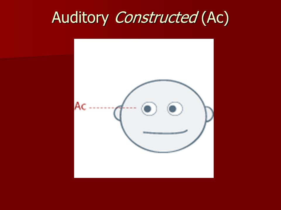 Auditory Constructed (Ac)