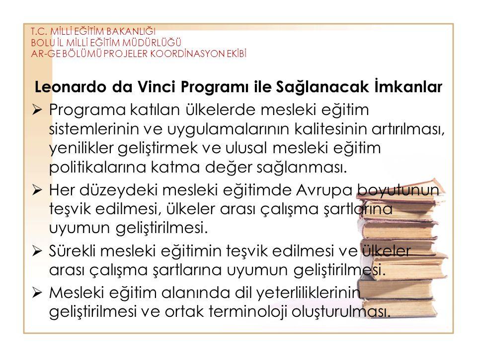 Leonardo da Vinci Programı ile Sağlanacak İmkanlar