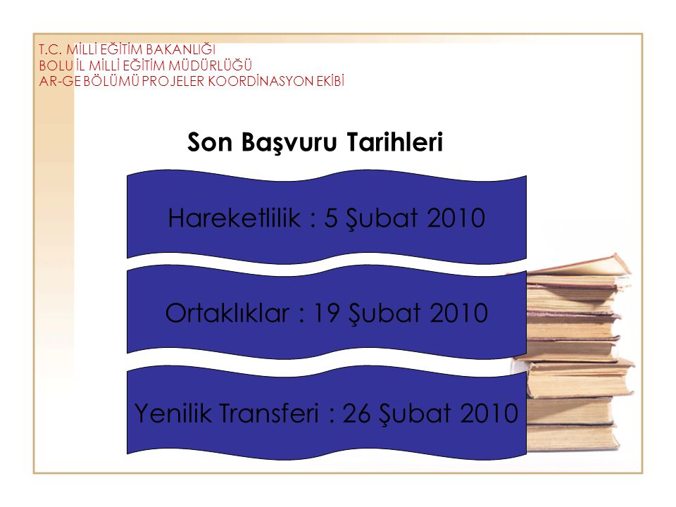 Yenilik Transferi : 26 Şubat 2010