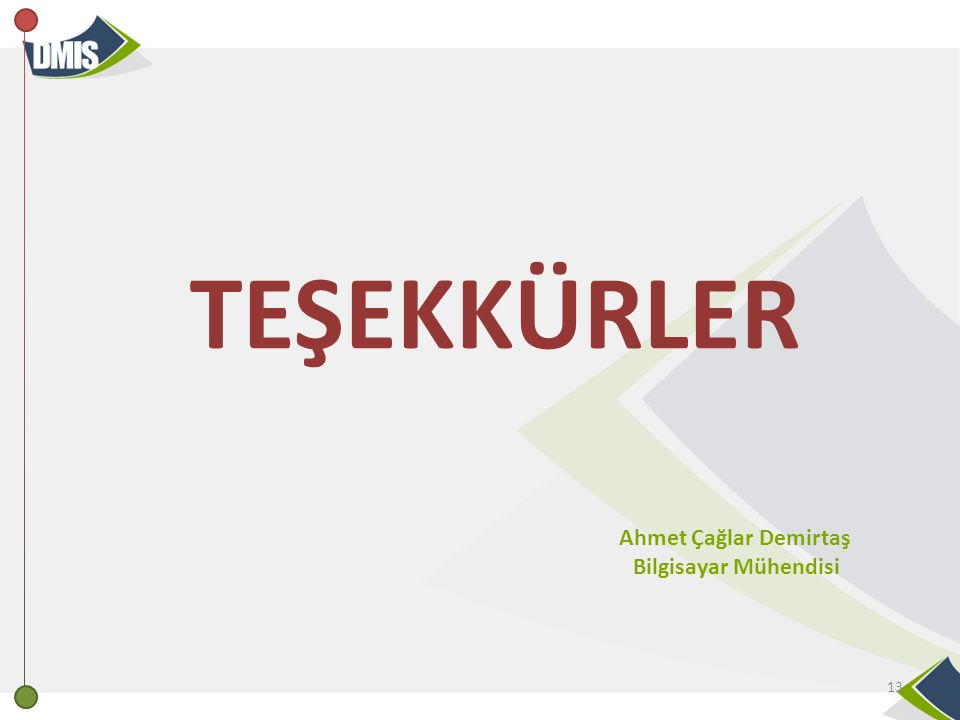 TEŞEKKÜRLER Ahmet Çağlar Demirtaş Bilgisayar Mühendisi