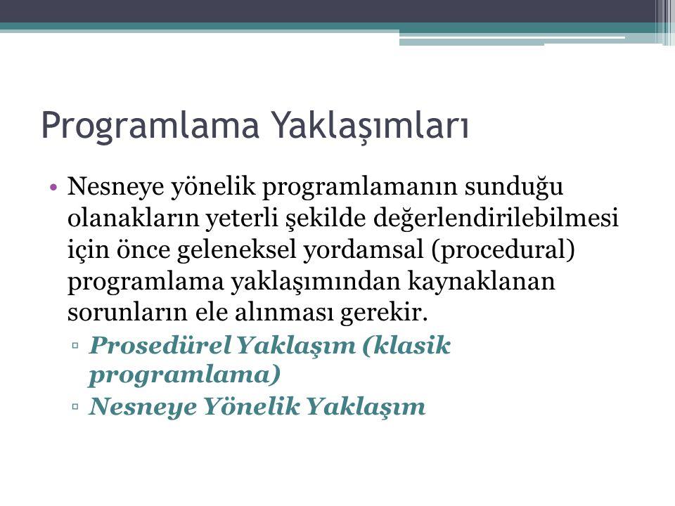 Programlama Yaklaşımları