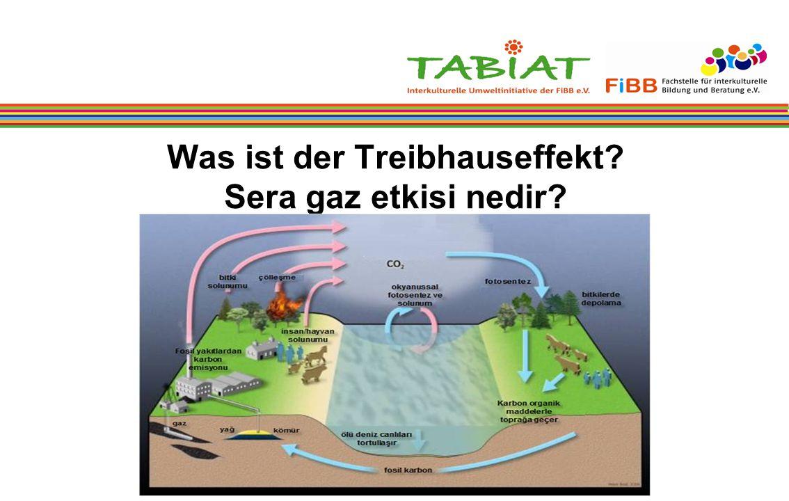 Was ist der Treibhauseffekt Sera gaz etkisi nedir