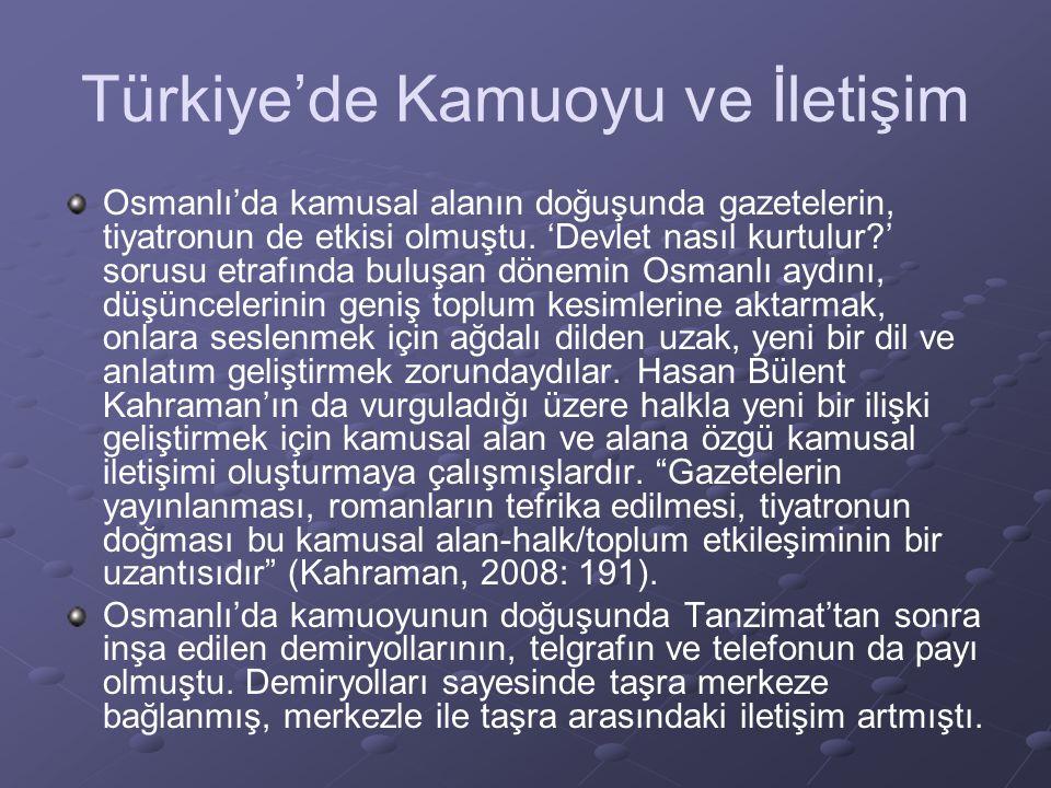 Türkiye'de Kamuoyu ve İletişim